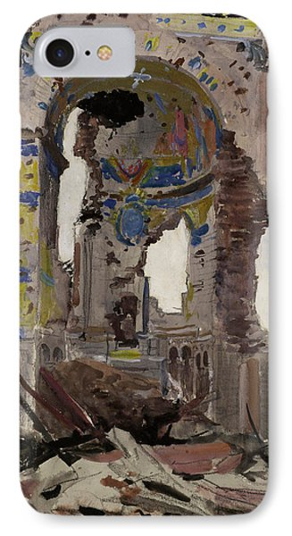 Bombed Out Interior Of Albert Church Phone Case by Ernest Proctor