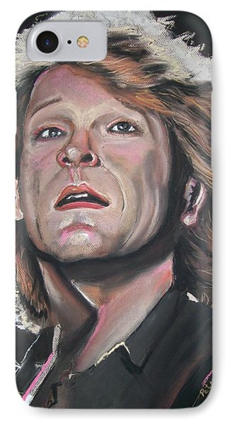 IPhone Case featuring the pastel Bon Jovi by Peter Suhocke
