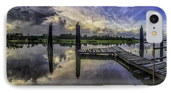 Bon Secour Panorama IPhone Case by Michael Thomas