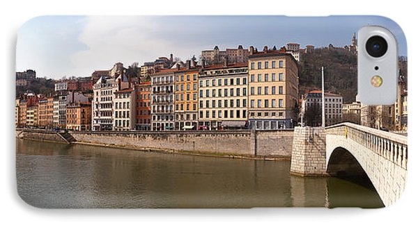 Bonaparte Bridge Over The Saone River IPhone Case by Panoramic Images