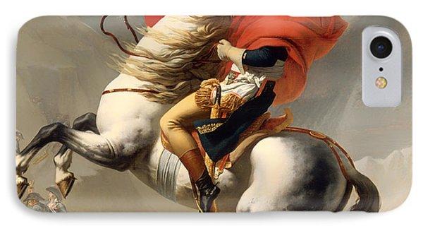 Bonaparte Crossing The Alps 1800 IPhone Case by Mountain Dreams