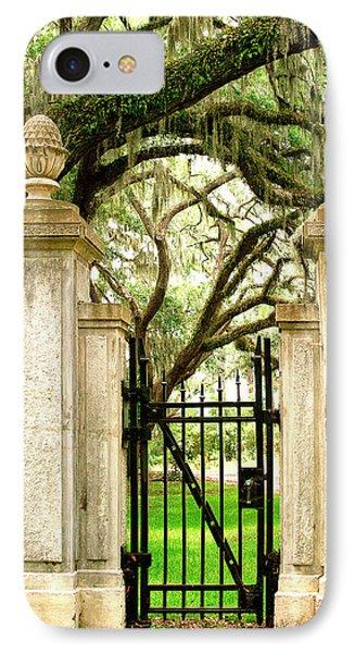 Bonaventure Cemetery Gate Savannah Ga IPhone Case