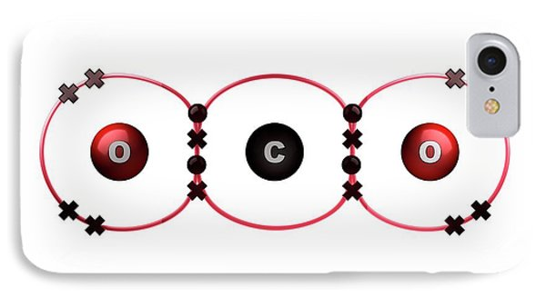Bond Formation In Carbon Dioxide Molecule IPhone Case by Animate4.com/science Photo Libary