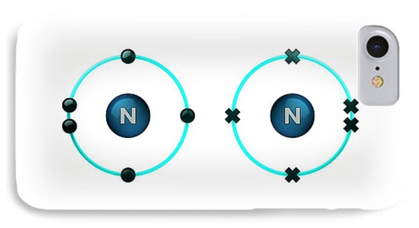 Bond Formation In Nitrogen Molecule IPhone Case by Animate4.com/science Photo Libary