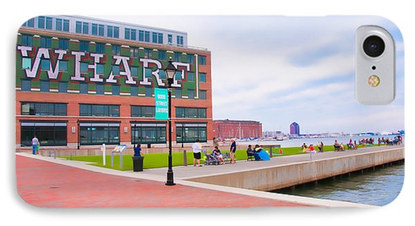 Bond Street Landing Baltimore Maryland IPhone Case by Vizual Studio
