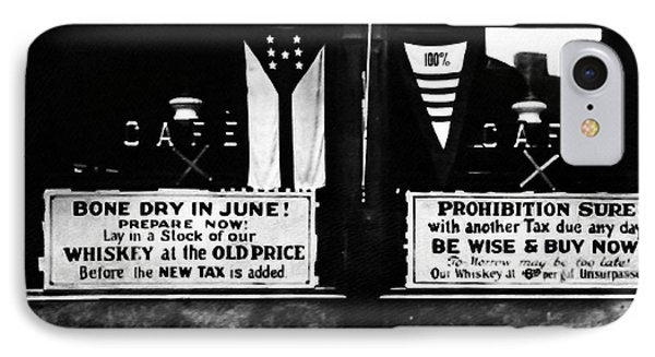 Bone Dry In June - Prohibition Sale Phone Case by Bill Cannon