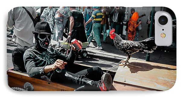 Bone Man And Rooster In Coffin Car On Mardi Gras In New Orleans IPhone Case