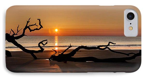 Bones Beach Sunrise Phone Case by Debra and Dave Vanderlaan