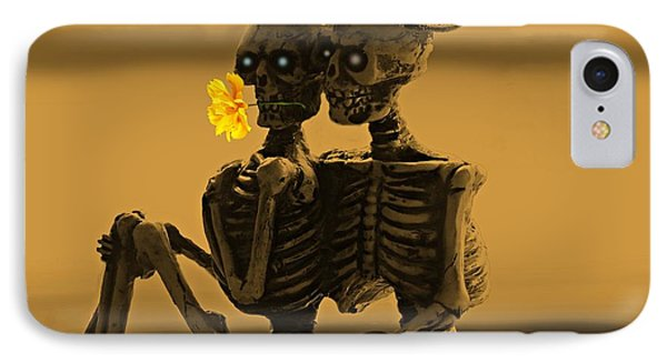 Bones In Love  IPhone Case by David Dehner
