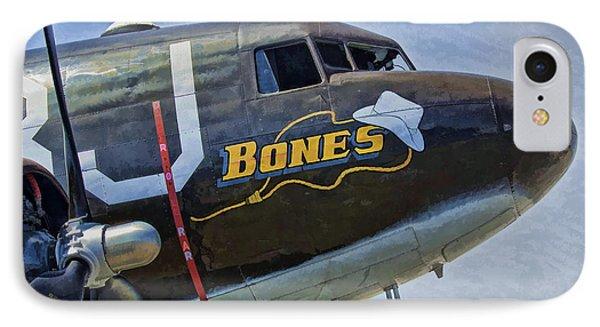 IPhone Case featuring the photograph Bones by Steven Richardson