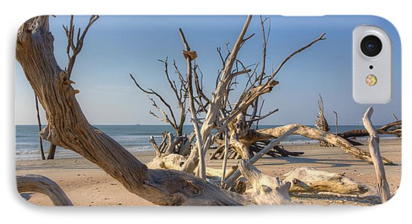 IPhone Case featuring the photograph Boneyard Beach by Patricia Schaefer