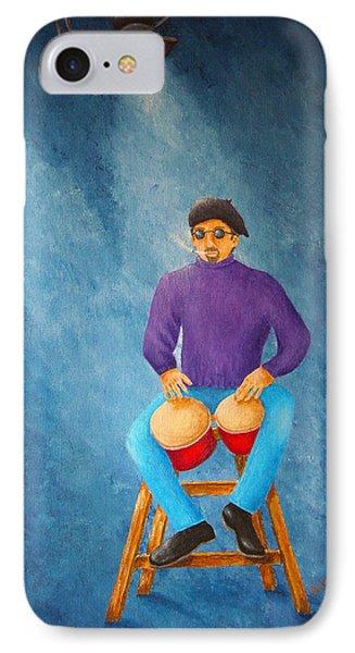 Bongo Man Phone Case by Pamela Allegretto