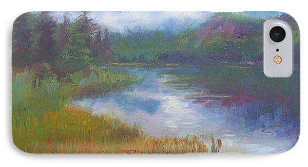Bonnie Lake - Alaska Misty Landscape Phone Case by Talya Johnson