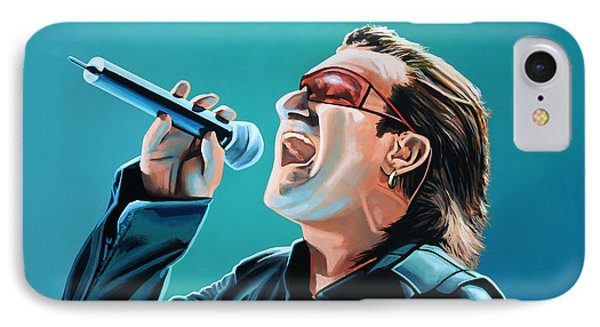 Bono Of U2 Painting IPhone 7 Case by Paul Meijering