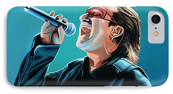 Bono Of U2 Painting IPhone 7 Case