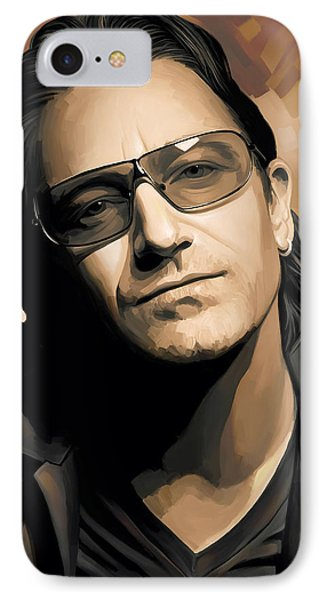Bono U2 Artwork 2 IPhone 7 Case by Sheraz A