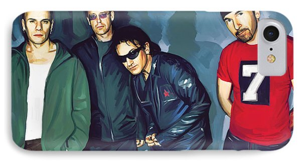 Bono U2 Artwork 5 IPhone 7 Case by Sheraz A