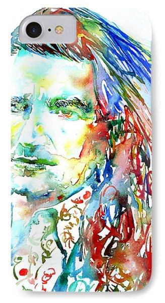 Bono Watercolor Portrait.2 Phone Case by Fabrizio Cassetta