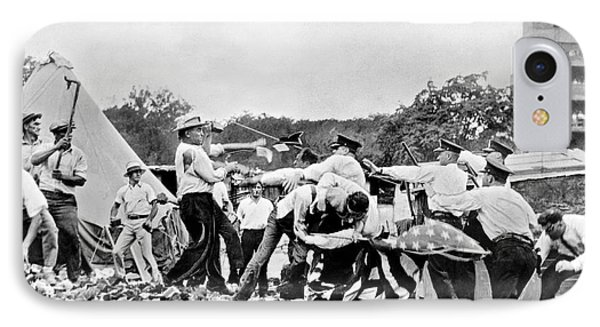 Bonus Army Vets Battle Cops IPhone Case by Underwood Archives