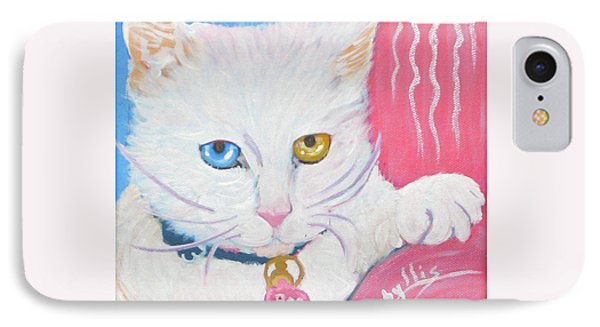 IPhone Case featuring the painting Boo Kitty by Phyllis Kaltenbach