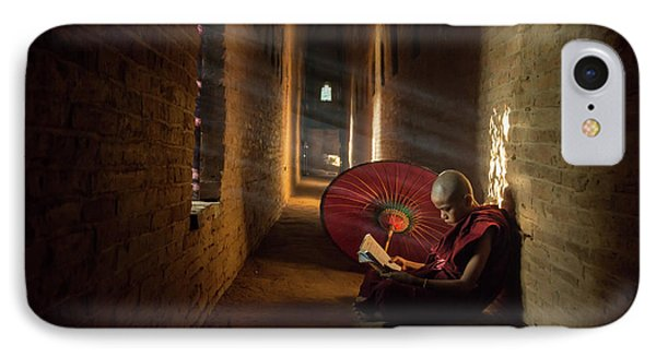 Book And Monk IPhone Case