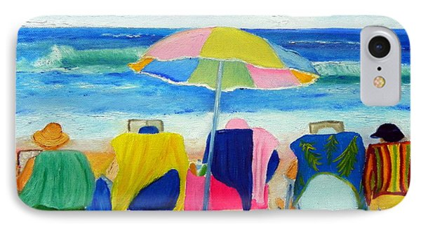 Book Club On The Beach IPhone Case by Shelia Kempf