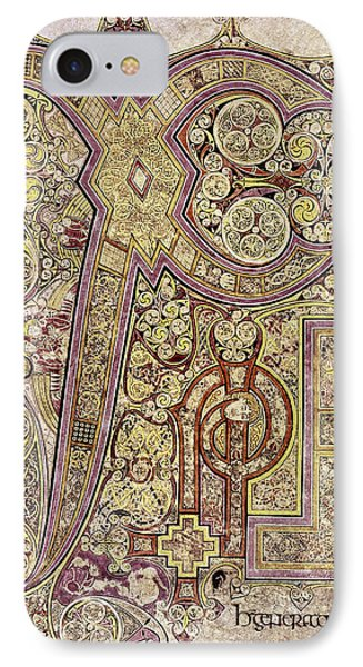 Book Of Kells Christ Page IPhone Case by Granger