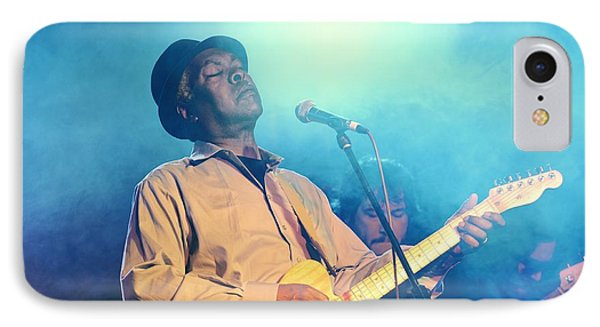 Booker T Jones Us Blues Singer Musician Performing At Maryport Blues Festival  2010 England IPhone Case by David Lyons