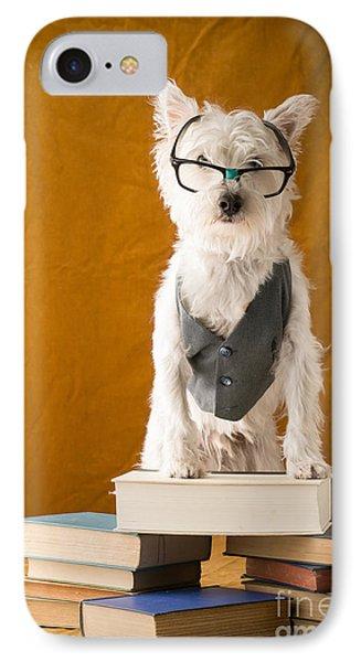 Bookish Dog Phone Case by Edward Fielding