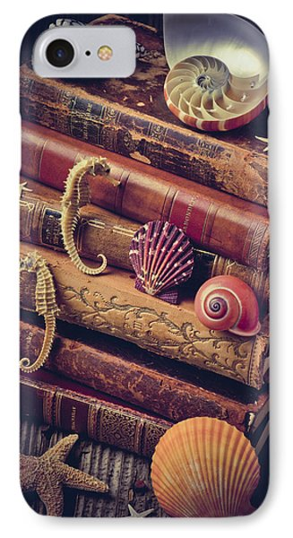 Books And Sea Shells IPhone 7 Case by Garry Gay