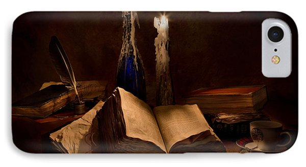 Books Candles And Coffee Cup IPhone Case