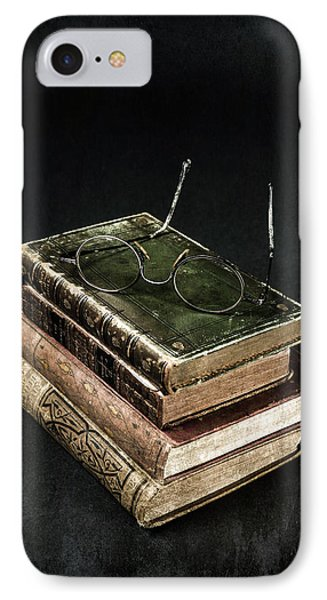 Books With Glasses Phone Case by Joana Kruse