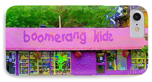 Boomerang Kids Baby Store Kiddies Clothing Consignment Shop The Glebe Paintings Of Ottawa C Spandau IPhone Case by Carole Spandau