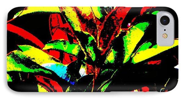 IPhone Case featuring the mixed media Booming Colors by Gayle Price Thomas