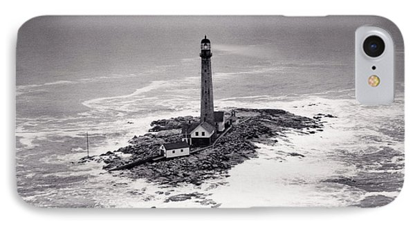 Boon Island Light Tower Circa 1950 IPhone Case by Aged Pixel
