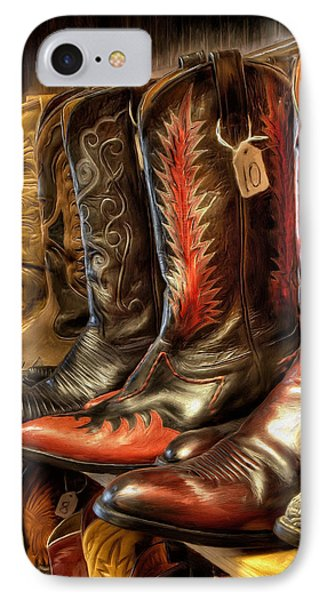 Boot Rack IPhone Case by Michael Pickett