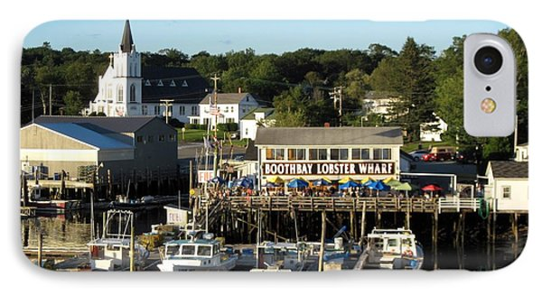 Boothbay Lobster Wharf Maine IPhone Case by Patricia E Sundik