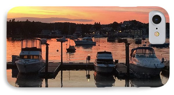 Boothbay Sunset 1 IPhone Case by Lois Lepisto