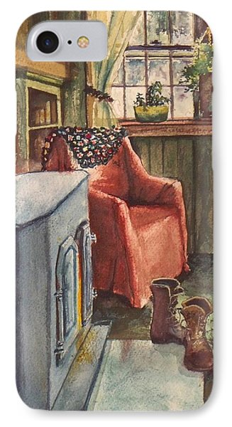 IPhone Case featuring the painting Boots by Joy Nichols