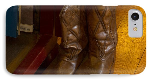 Boots Not Made For Walking Phone Case by Jean Noren