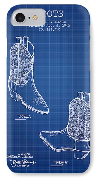 Boots Patent From 1940 - Blueprint IPhone Case by Aged Pixel