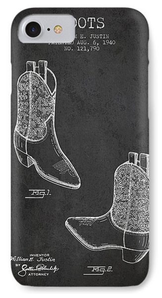 Boots Patent From 1940 - Charcoal IPhone Case by Aged Pixel