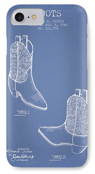 Boots Patent From 1940 - Light Blue IPhone Case by Aged Pixel