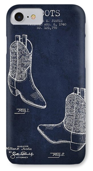 Boots Patent From 1940 - Navy Blue IPhone Case