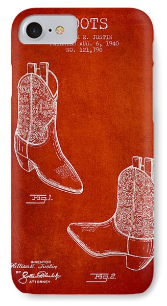 Boots Patent From 1940 - Red IPhone Case by Aged Pixel