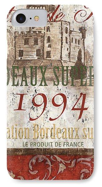 Wine iPhone 7 Case - Bordeaux Blanc Label 2 by Debbie DeWitt