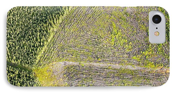 Boreal Forest Felled For Tar Sands Mine IPhone Case by Ashley Cooper