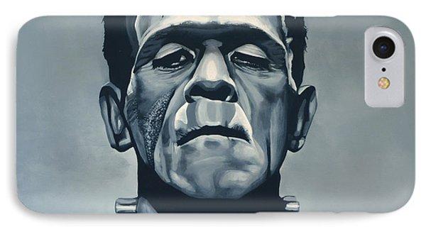 The iPhone 7 Case - Boris Karloff As Frankenstein  by Paul Meijering