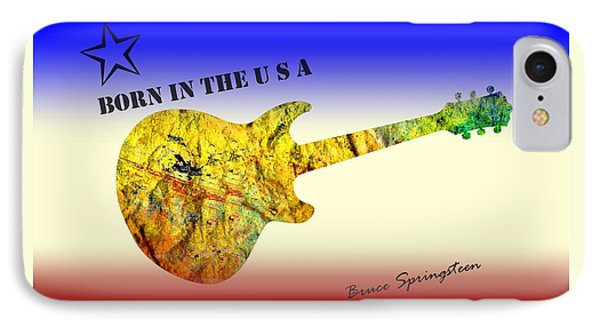 Born In The U S A Bruce Springsteen IPhone Case by David Dehner