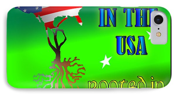 Born In The Usa Rooted In Ireland IPhone Case by Ireland Calling